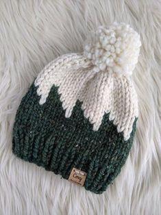 Beanie Knitting Patterns Free, Beanie Pattern Free, Fair Isle Knitting Patterns, Crochet Beanie Pattern, Loom Knitting, Free Knitting, Baby Knitting, Crochet Patterns, Hat Patterns