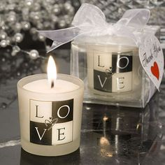 LOVE Design Candle Wedding Favors