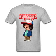 f8acf71cdd9 Stranger Things T Shirt Mens Funny Teenager Cotton Shirt DIY Dustin T-Shirts  Adult Plus Size Tops