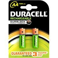 Duracell Plus 5000172 Aa Rechargeable Batteries 1300 Mah Pack Of 2 Green Duracell Rechargeable Batteries Recharge