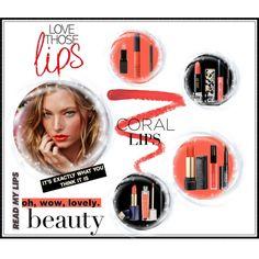 Coral lips…Trend by unamiradaatuarmario on Polyvore featuring Belleza, Ellis Faas, Lancôme, Anna Sui, Sue Devitt, Estée Lauder, Isadora, Lipstick Queen, NARS Cosmetics and Bobbi Brown Cosmetics