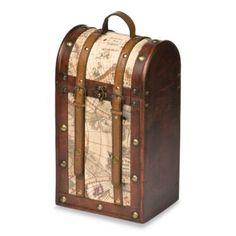 2-Bottle Treasure Map Wine Tote - BedBathandBeyond.com
