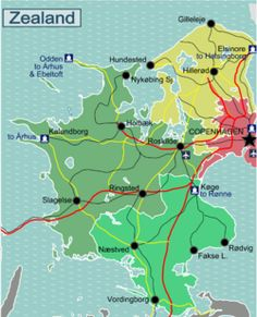 Zealand travel guide - Wikitravel Denmark Tourism, Tour Guide, Travel Guide, Tours, Map, Travel Guide Books, Location Map, Maps