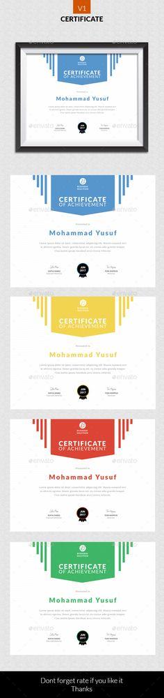 #Certificate v1 - Certificates #Stationery Download here:   https://graphicriver.net/item/certificate-v1/20437928?ref=alena994