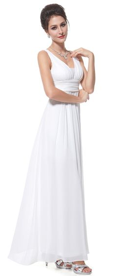 White One-Shoulder Wedding Prom Maxi Dress   Prom maxi dresses and ...