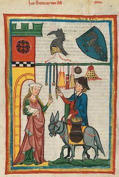 Manesse Codex - (1300 - 1340) Herr Dietmar von Ast