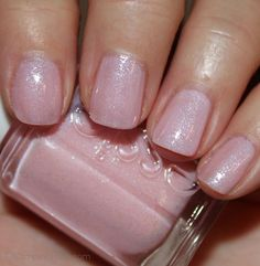 Essie Pink-A-Boo. Pale pink with small duo-chrome shimmer. Definitely a new favorite in my collection! Neutral nails done right!