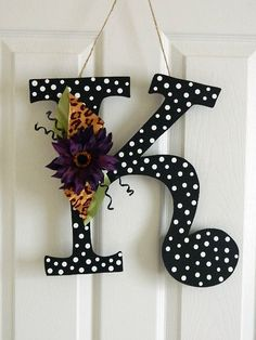 Wooden Letters for Door Decorations - Wall Letters - Monograms. $30.00, via Etsy.