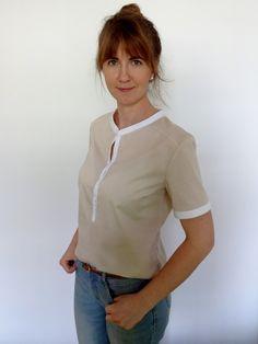 bluzka Burda 6/2013 model 118; blouse