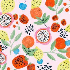 Hema outdoor goods - print by Aniek Bartels Graphic Patterns, Textile Patterns, Print Patterns, Textiles, Nachhaltiges Design, Design Floral, Design Studio, Fruit Illustration, Floral Illustrations