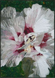 White Summer Bloom by Andrea M. Brokenshire | art quilt | AMB Fiber Art and Design