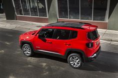 Red Jeep Renegade Desktop Wallpaper