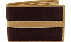 STARHIDE MENS DESIGNER CANVAS / ITALIAN BROWN / TAN LEATHER SLIM FOLD WALLET GIFT BOXED - BEST XMAS GIFT STARHIDE MENS DESIGNER CANVAS / ITALIAN LEATHER WALLET. IT HAS 5 CREDIT DEBIT CARD POCKETS, 1 ID POCKET, 2 SLIP POCKET FOR MEMBERSHIP / STORE CARDS amp