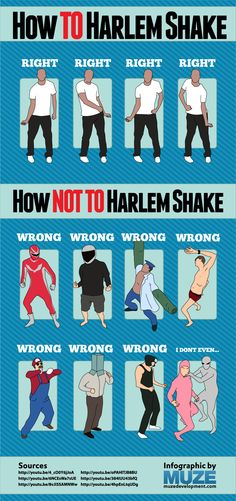 I thought the internet could use a guide to show people how to do the actual Harlem Shake. :)
