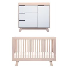 Babyletto Hudson Cot And Change Table Package   Washed Natural