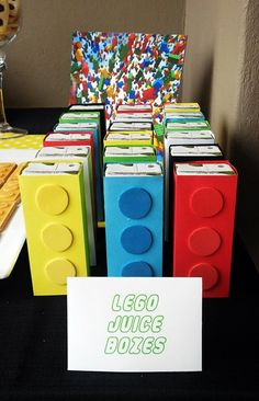 """Lego"" Juice Boxes and other ideas for a party"