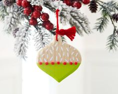 Whimsy Painted Wood Ornaments