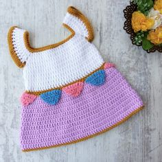 Chip the Teacup Baby Dress | Free Pattern - My Accessory Box Quick Crochet, Crochet For Boys, Free Crochet, Boy Crochet, Baby Patterns, Crochet Patterns, Crochet Baby Costumes, Crochet Summer Dresses, Crochet Baby Beanie