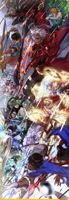 Anime, Anime, karuha (kokuyouboys), Fate (series), Fate (srs), Archer (Fate / stay night), Fate / Stay Night, Archer of red, Fate / Apocrypha, Gilgamesh (Fate), Demon Archer (Fate / grand order, Euryale, arjuna (fate / grand order), Archer (Fate / EXTRA), artemis (fate / grand order), nikola tesla (fate / grand order), archer of
