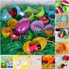 Non-Candy Easter Egg Stuffers - It's that time of year when we're filling eggs for the annual Easter Egg Hunt and we're TRYING to limit the amount of candy. Here are some great ideas for stuffing those Easter eggs with fun items that aren't candy! Hoppy Easter, Easter Eggs, Easter Bunny, Easter Egg Stuffers, Diy Ostern, Festa Party, Easter Activities, Easter Celebration, Easter Holidays