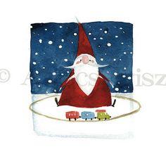 Artista Blog: What Santa does when nobody see him/I // Mit csiná...