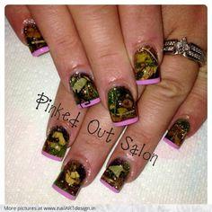 camo acrylic nail designs | Real Girly Hunting Camo