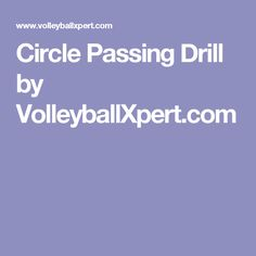 Circle Passing Drill by VolleyballXpert.com