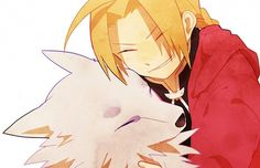 Edward Elric and....a wolf?!