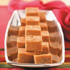 """""""I have entered this fudge at our county fair for several years, and it always wins me a ribbon."""" Butterscotch Fudge Recipe is shared by Virginia Hipwell of Fenwick, Ontario Fudge Recipes, Candy Recipes, Sweet Recipes, Holiday Recipes, Dessert Recipes, Holiday Foods, Dessert Ideas, Holiday Gifts, Just Desserts"""