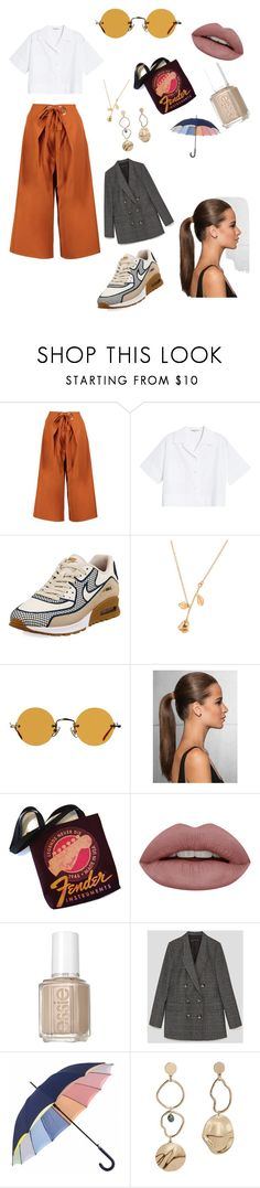 """""""Untitled #3"""" by laurennicholls ❤ liked on Polyvore featuring Boohoo, Acne Studios, NIKE, Hakusan, Essie and MANGO"""