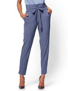 Shop Paperbag-Waist Slim Ankle Pant. Find your perfect size online at the best price at New York & Company.