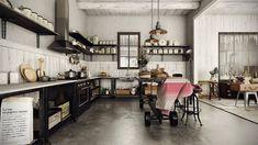 Open space industrial kitchen