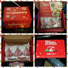 #Merrykissmas I received my first Influenster Voxbox for the #Hersheys Kisses campaign. #Influenster