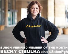 Becky Cibulka @SaborPgh - Burgh Verified Member of the Month: September