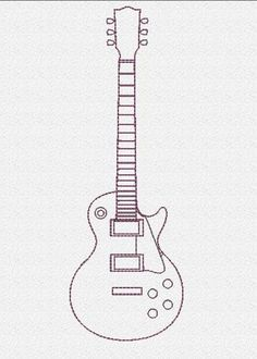 Electric Guitar Embroidery Design   Craftsy