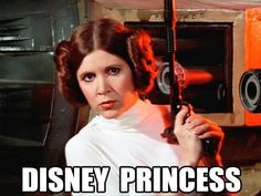"I love how from now on when someone asks me who my favorite Disney Princess is, I'm allowed to say ""PRINCESS LEIA!!!!!"" :D"