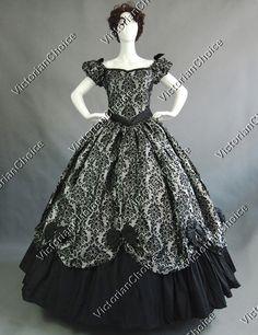Southern Belle Victorian Formal Dress Ball Gown Reenactment Halloween Costume