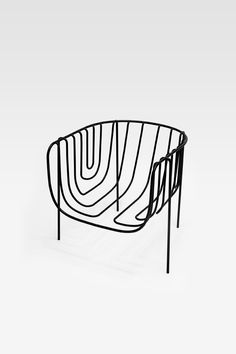 thin black lines chair nendo