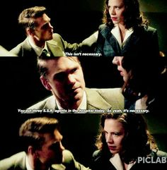 Ah, Peggy and Jack. Pretty sure I will always ship the couple who argues/insults one another like crazy, yet somehow has the most accurate assessment of the other person's skills.  |Marvel||TV Shows||Marvel's Agent Carter||Cartson tumblr|