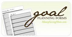 Free Customizable Goal-Setting Worksheets