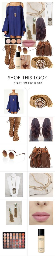 """""""Boho"""" by elizabeth-horan-i ❤ liked on Polyvore featuring American Rag Cie, Goossens, Simons, Diane Von Furstenberg, Cost Plus World Market, Suzanna Dai and Bare Escentuals"""