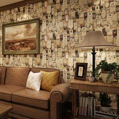 Papier peint Pune vintage les importations américaines de pur papier papier peint vieux journaux chambre salon canapé fond d'écran r dans Papiers peints de Maison & Jardin sur AliExpress.com   Alibaba Group
