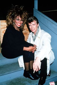 David Bowie with Tina Turner 1985