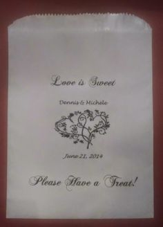 Vintage Wedding Inspiration VINTAGE WEDDING DESSERT BUFFET WEDDING FAVOR BAGS