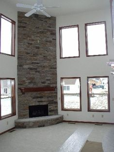 rustic corner fireplaces, high ceilings | stone+corner+fireplaces ...
