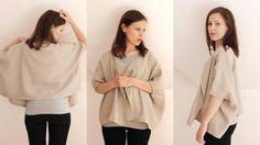 Linen oversized top Linen summer top Womens linen by CollectionWN