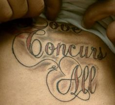 a very agreeable tattoo? THIS IS WHY WE GO TO SCHOOL, PEOPLE. let's all remember to spell-check the tattoo artist, please.