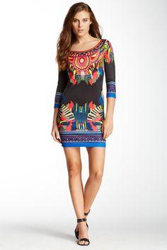 Tribal Printed Bodycon Dress Mini