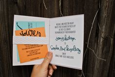 favorite concepts of these invitation books was the special surprise photo that we hid in the back