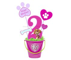 Paw Patrol Skye Printable Centerpiece. Also great for party decorations and photo booth props.